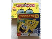Spongebob monopoly & connect 4 games £5