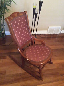Antique character rocking chair