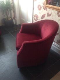 Bucket style armchairs