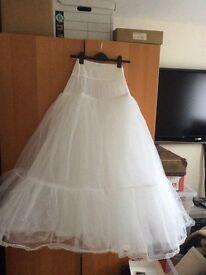 Bridal net underskirt