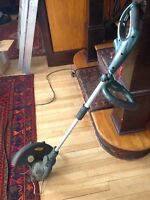 Yard works grass trimmer edger electric