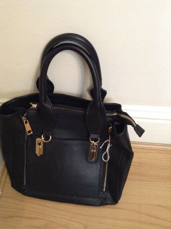 3b6aaf763260 Black gold tote handbag by Warehouse (from House of Fraser)
