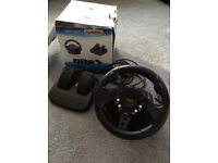 PlayStation 2 Ps2 Steering Wheel & Pedals