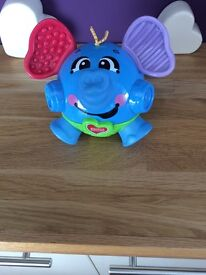 Fisher price bounce and giggle elephant