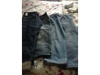 Size 16 cropped jeans and linen trousers