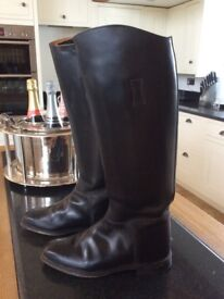 Regent leather riding boot - size 6