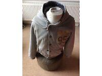 Pale grey hooded sweatshirt jacket by Smith & Jones