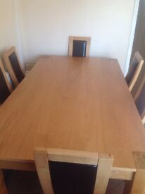 New dinning table and six chairs