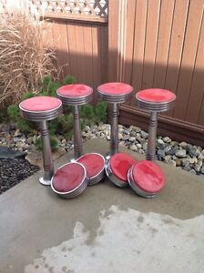 Original soda fountain stools and 2 chairs