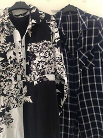 2 long shirts/dresses/top size 14 - £5 for both of them