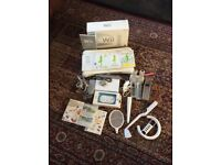 Wii console, Balance Board, Games and accessories