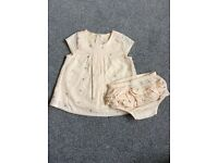 M and S baby girl top and knicker set, 0-3months