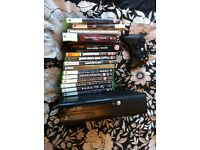 Xbox 360 plus 16 games with hard drive