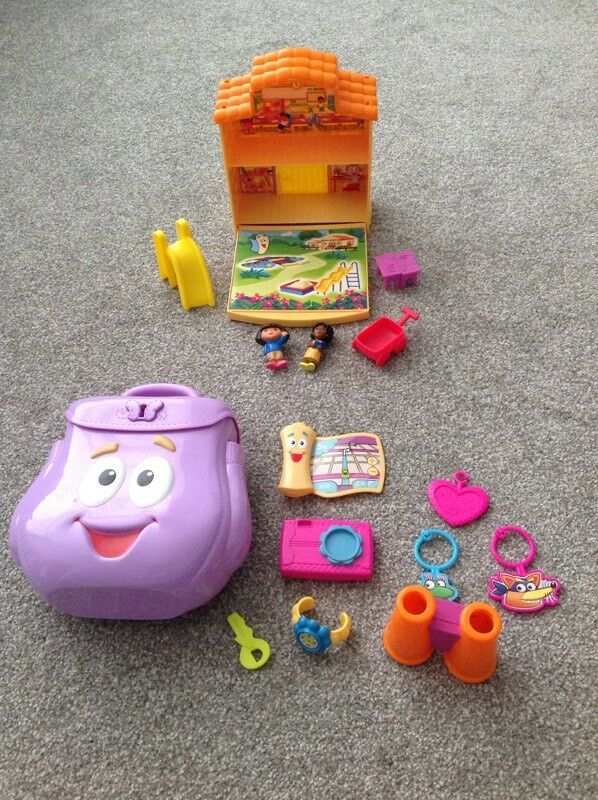 Dora backpack and school set