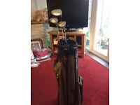 Golf bag with 3 clubs lightweight