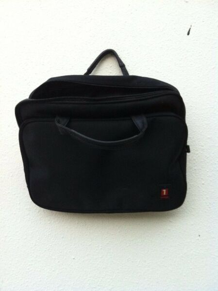 Iomega laptop bag. In good condition. No tear and all zippers working.