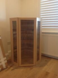 Light oak corner cabinet
