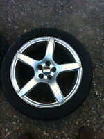 VW 100mm rims and 225/45/17 Toyo Observe