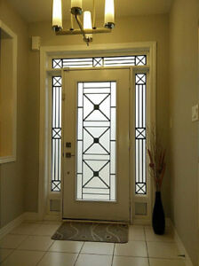 WROUGHT IRON & DECORATIVE GLASS INSERTS(catalogue link below)