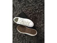 White full leather converse all stars size 37 1/2