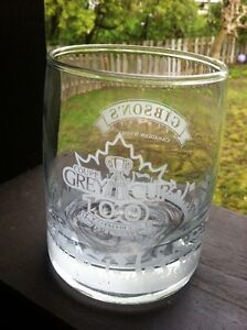 Gibson's Whisky 100th Grey Cup 12 oz. Glass Tumbler