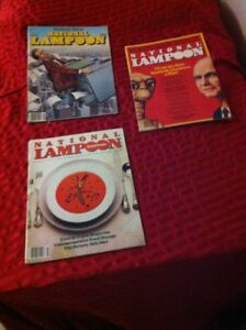 Three Vintage National Lampoon Magazines. Good Reading Condition
