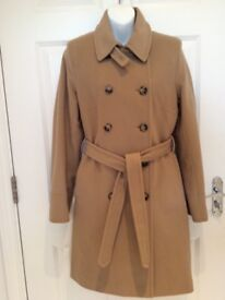 DKNY Beige Wool Trench Coat (size 12) - New