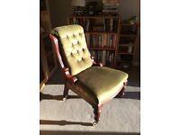 Victorian button back chair