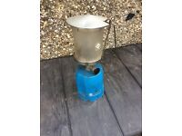 Camping gaz gas lamp can post