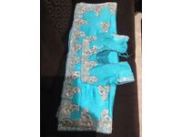 Brasso Silk Heavy Works Sari with Blouse and Petticoat