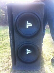 JL subs and amp package