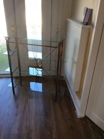 Glass Display Unit and matching mirror