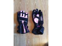 New ladies motorcycle gloves pink