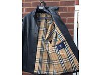 Ladies leather Burberry coat