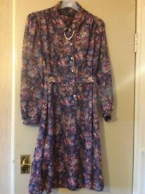 Ladies long sleeve Debenhams dress size 16