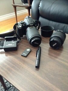 Nikon D5000 with two lens and more!