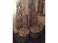 Modern high-back Zebra print Deluxe Chairs