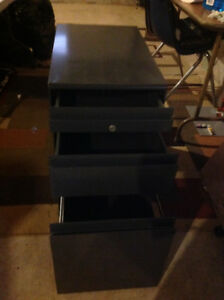 Metal Filing cabinet with 3 drawers
