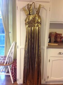Gold metallic dress size small