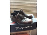 Gents Shoes Tan Real Leather Size 7