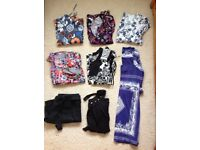 Bundle of ladies clothing - 7 tops and 1 shorts all from Next size 14