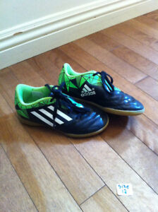 Adidas indoor soccer shoes-youth size 12