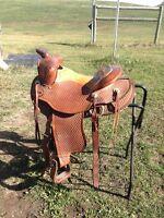 Western Rawhide Saddle for Sale