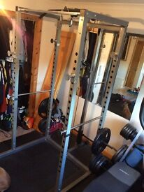 Gymano power rack with Lat pull down and low cable pulley