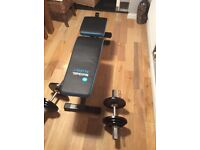Weights bench and Dumbbells