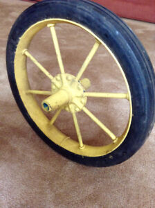 Spoked Wheel with solid rubber tire