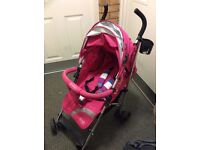 EQ baby pushchair with rain cover and foot muff, only brought a few months ago, nearly new