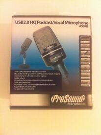 USB 2.0 HQ Podcast/ Vocal Microphone A99JB by Prosound