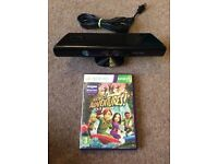 Xbox 360 Slimline Kinect camera and game
