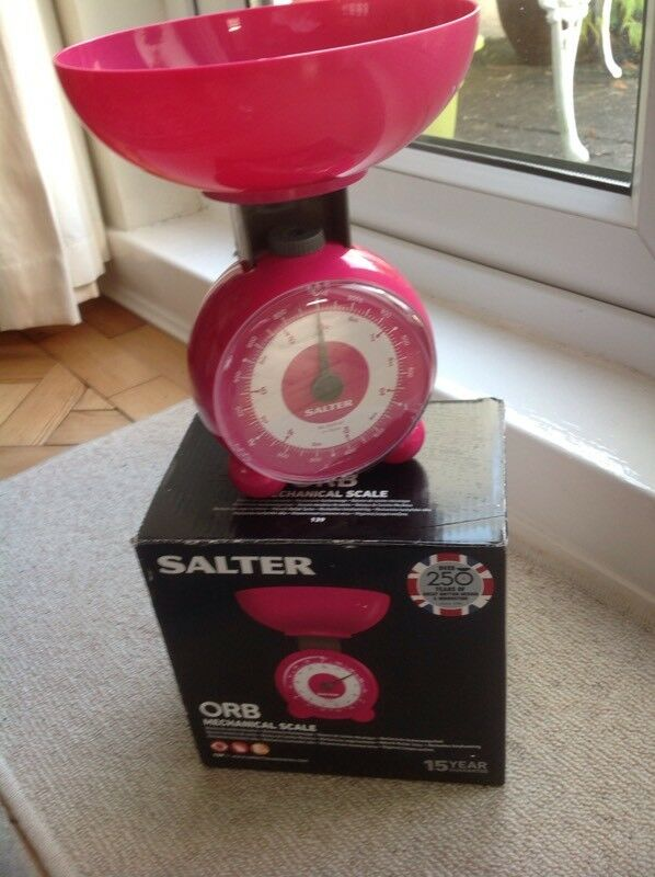 Unused Salter 3kg Kitchen Weighing Scales With Box Instructions